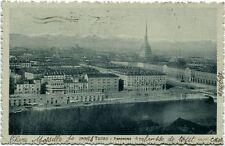 1915 Torino - Panorama della città di Torino dall'alto, Ferrovia - FP B/N VG