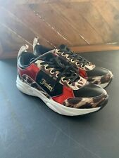 Juicy Couture Women Walking Sneakers Brand New Black Red Leopard Womens Size 8.5