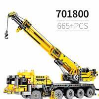 Block Motor Power Mobile Big Size Crane Model Crane Technic Serie Building Toy