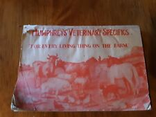 Antique HUMPHREYS Veterinary Medicine pamphlet