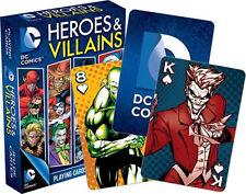 DC COMICS - HEROES & VILLAINS - PLAYING CARD DECK - 52 CARDS NEW - JOKER 52268