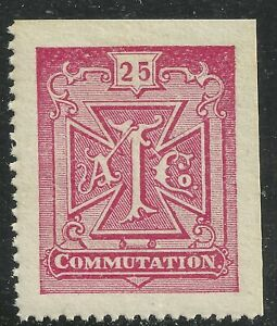 U.S. Revenue Telegraph stamp scott 2t4 - 25 cent Atlantic Telegraph Co - mnh  #9