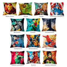 Throw Pillow Case Avenger X MEN Superhero Marvel DC Comics Sofa Cushion Cover