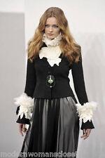 Rare Chanel 09A Tweed Black Classic Jacket Blazer NEW 36 Exquisite