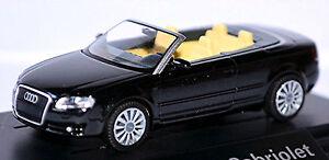 Audi A4 B7 Cabriolet 2006-09 IN Pc-Showcase Display Box Phantom Black 1:87