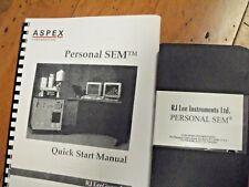 Aspex Fei Rj Lee Sem Psem Personal Scanning Electron Microscope Manual Amp Vhs