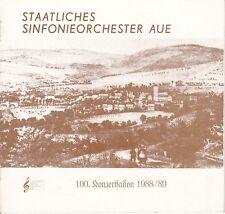Staatliches Sinfonieorchester Aue, 100. Konzertsaison 1988/89, Broschüre