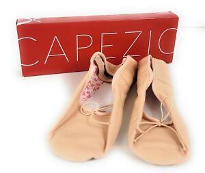 NIB Capezio 205C Daisy Leather Ballet Slippers Elastic Attached, size 8M