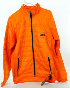 NWT Volkl Pro Primaloft Fleece Jacket Men's Large Orange Full Zip Ski Snowboard