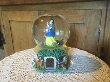 """Disney Snow White Water Globe. Musical. """"Whistle While You Work"""". 5.5 H X 4.5"""" D"""