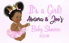 """16 Baby It's A Girl Shower Favor Tags 2 """" X 2.5"""" Birthday Event Royal Princess"""