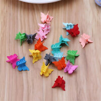 20X Mini Multi-Color Hair Claws Hair Clips Cute Butterfly Shape Kids Hair Clamps