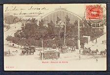2947.-MADRID -Estación de Atocha (Enviada a México en 1909) Tarjeta Sin División