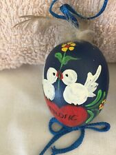 Vintage Easter Hand Painted Real Egg Shell Decor/Ornament Made in Germany