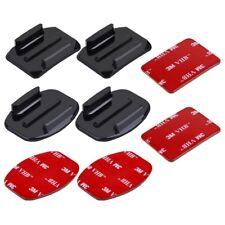 4pcs Kit de Fixations Casque Adhésif 3M Plates+Incurvées pour camera Gopro Hero