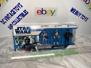 Star Wars Evolutions Imperial Pilot Legacy Hasbro 2008 w/Biggs!