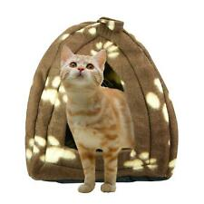 Dog Cat Warm Fleece Basket For Pets Puppy Winter Bed Igloo House Soft Luxury