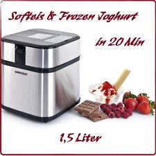 Gino Gelati Edelstahl Eismaschine / Frozen Joghurt mit Digital Timer Eis Machine