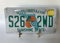 Florida Sunshine State License Plate S26 2WD Green White Oranges