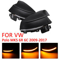 2PCS For VW Polo MK5 6R 6C Side Mirror Dynamic Turn Signal LED Light Indicator