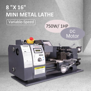 "CRENEX  8""x16"" 750w Automatic Mini Metal Lathe Variable-Speed Milling Machine"