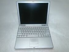 """Apple PowerBook G4 A1104 12"""" Laptop 1.5GHz 736MB 100GB HD Damaged Corner AS-IS"""