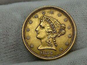 XF 1856 GOLD $2.50 Dollar LIBERTY Quarter Eagle.