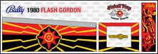 Bally Flash Gordon PINBALL CABINET STENCILS  • • Pinball Pimp PREMIUM • •