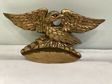 Antique Vintage  Gilt Spread Eagle Mirror top