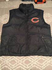 Mens VINTAGE Chicago Bears NFL REEBOK Winter Puffer Vest XL Coat/Jacket