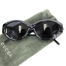 2eadd85d6ca Gucci Logos Lunettes de Soleil Noir Argent Oeil Vêtement Vintage Italie