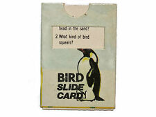 Cracker Jack paper prize Penguin Bird Slide Card Vintage 1970s