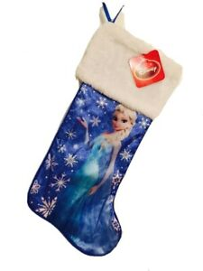 18 In Frozen Princess Elsa Blue Christmas Stocking