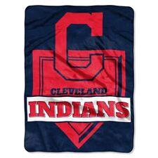 "Cleveland Indians MLB Blanket 60 x 80"" Raschel Home Plate Design"