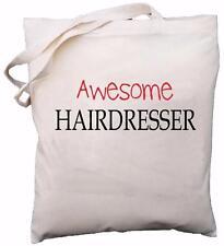 Awesome Hairdresser - Natural Cotton Shoulder Bag - Gift