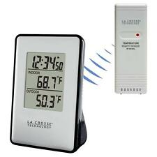 308-1910 La Crosse Technology Wireless Thermometer Weather Station TX191 - Black