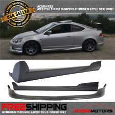 Fit 02-06 Acura RSX AC Style Front Bumper Lip Spoiler Mugen Style Side Skirt PU