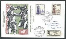 1959 ITALIA FDC FILAGRANO OIL NO TIMBRO ARRIVO - K1