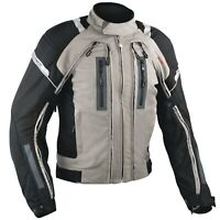 Motorcycle Jacket CE Armored Apparel Textile Warterproof 4 layer Grey