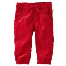 Nuevo Oshkosh de Niña Rojas Pantalones Pana Size 24m con Etiqueta Libres Tirar