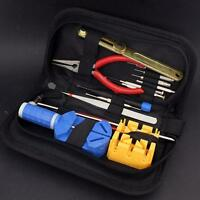 Watch Repair Tool Kit Opener Link Remover Spring Bar Band Pin w/ Carrying Case