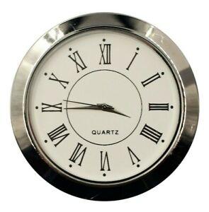 Einbau-Uhr Einsteckuhrwerk Einbauuhr Einsteckwerk «RÖMISCH» Ø 55 mm Silber Nr.31