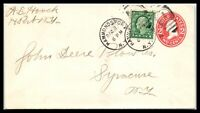 1917 US Cover - Hammondsport, New York to Syracuse, NY, Uprated L4