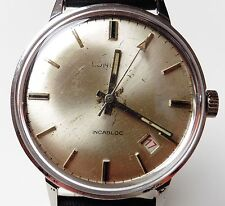 Gents SS Longma by Raymond Dodane Mechanical ETA 2502 Date at 4.5 Watch Serviced