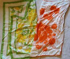 2 vintage floral scarve
