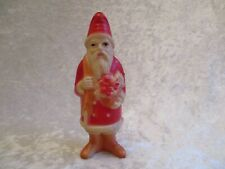 Antique Viscoloid Celluloid Santa Claus with Fruit Basket and Doll