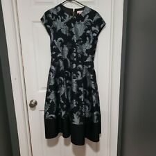 TED BAKER Black Danetia Dress Ted 3 Pockets altered midi Medium US 8