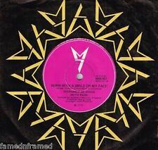 """STEPHANIE DE SYKES - BORN WITH A SMILE ON MY FACE - RARE 7"""" 45 VINYL RECORD 1974"""