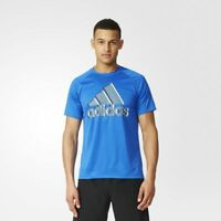 adidas Performance Base Logo Tee Sizes M-XXL Blue RRP £25 BNWT AY7323