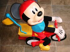 New listing Disney Mickey Mouse Bike Rider - Just Play Manufacturer Toy Working!
